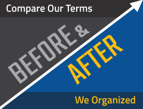 Compare Our Terms Before and After We Organized