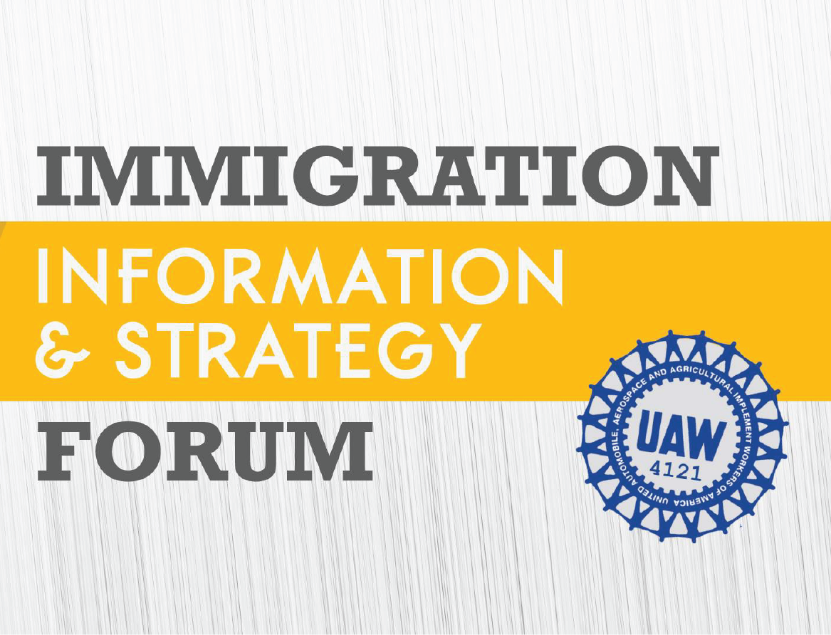 UAW is taking action for immigrant and undocumented rights!  Check out our press release, updates, and more!!