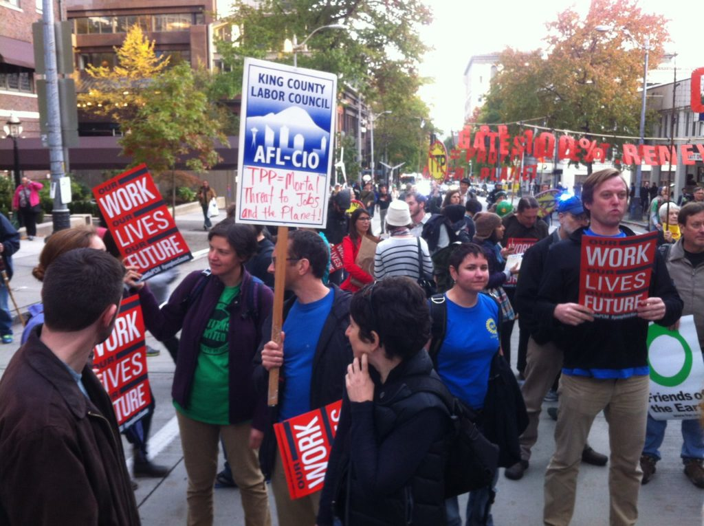 UAW 4121 members at the People's Climate March, October 2015.