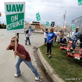 #Solidarity with 50,000 GM workers on strike today for a fair contract! We stand with our UAW family in this critical fight #UnionStrong #WorkerPower . . Coverage from @detroitfreepress at the link in our bio