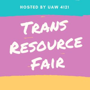 Less than a week until our trans resource fair! The fair will feature a dozen local trans orgs and a presentation of results from our 2018-19 equity survey. ✊ The fair runs from 4-7pm on Thursday October 10 in Social Work Building 305. Check it out before/after the first membership meeting of the year, also in the social work building from 5:30-6:30. ✊ More info at the link in our bio!