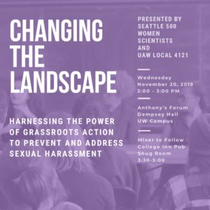 This Tuesday & Wednesday, the National Academies of Science, Engineering, and Medicine are hosting a summit at UW on the topic of preventing sexual harassment in higher ed. ✊ UAW 4121 members will be featured on a number of panels & presentations, and after the summit we're hosting a discussion with Seattle 500 Women Scientists on the power of grassroots action. ✊ For more info & to RSVP, check out the link in our bio!